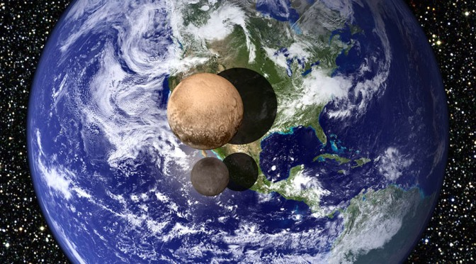 La Tierra Plutón y Caronte