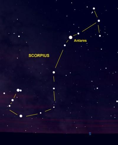 Constelacion del Escorpión