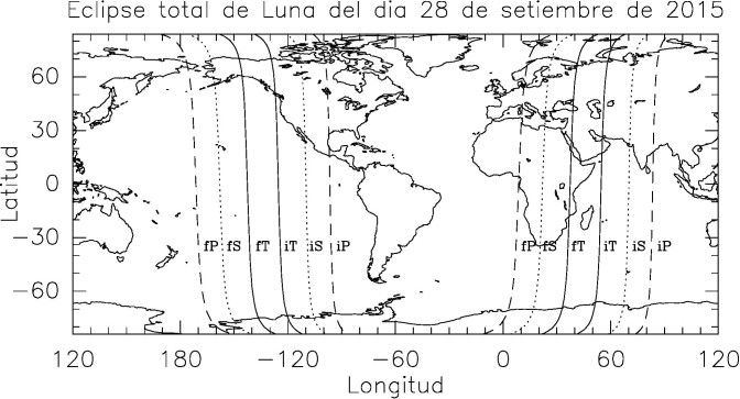 Eclipse total de Luna del día 28 de septiembre