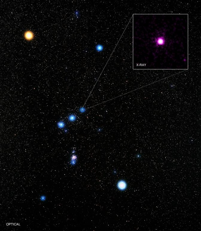 Delta Orionis en el cinturón de Orión
