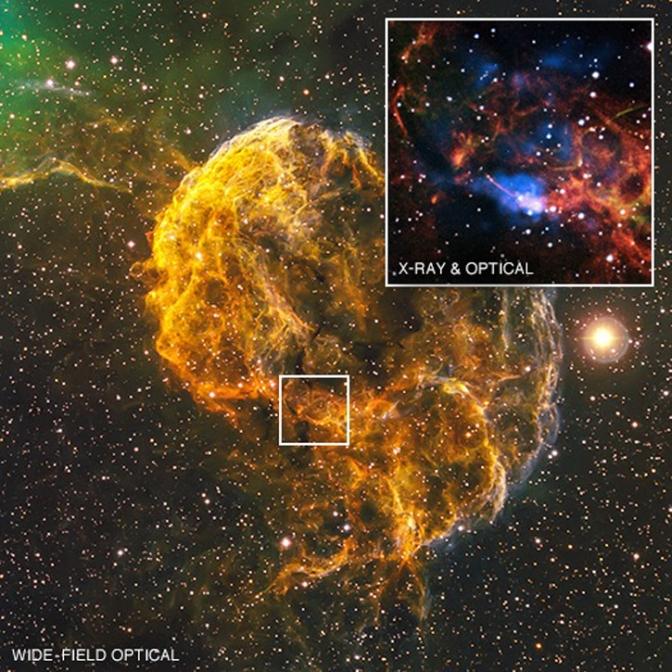 La nebulosa de las medusas (conocido oficialmente como IC 443)
