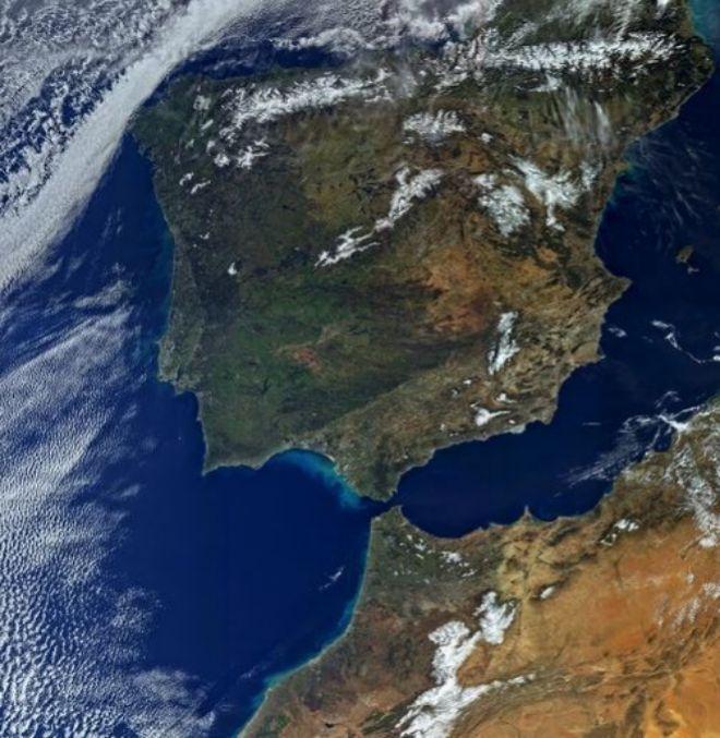 La península Ibérica,  imagen del centinela espacial europeo