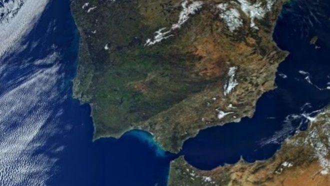 Península Ibérica y norte de África vistas por el Sentinel-3A. |ESA