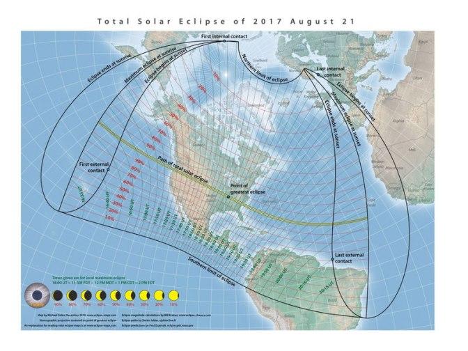 Eclipse de Sol del 21 de Agosto de 2.017