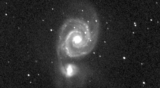 Galaxia M51. Fotografía Agrupación Astronómica Perseo