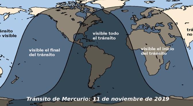 Tránsito de Mercurio del día 11 de noviembre de 2019